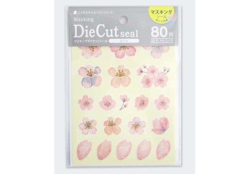 Sakura masking die-cut seal