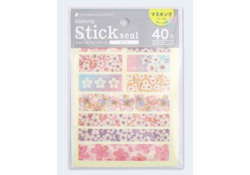 Sakura masking stick seal
