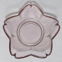 Japanese style small glass plate sakura