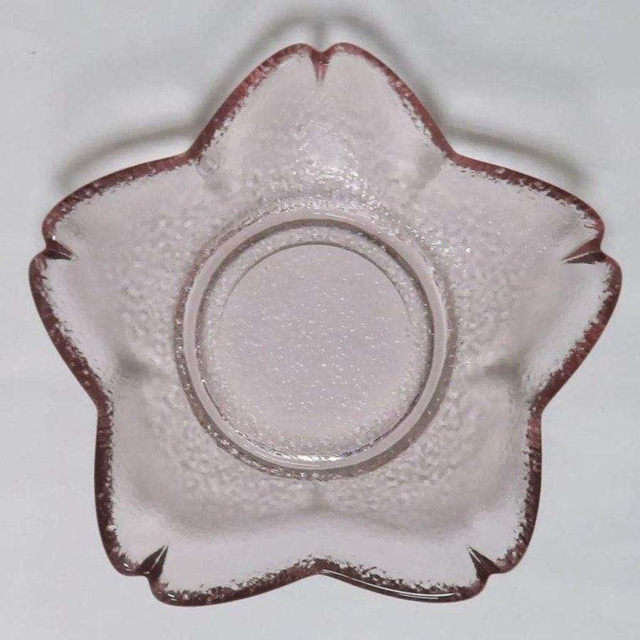 Japanese style small glass plate sakura-1