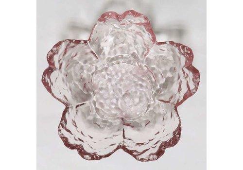 Japanese style glass sakura type small dish