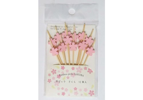 ?Bamboo pick sakura 12P