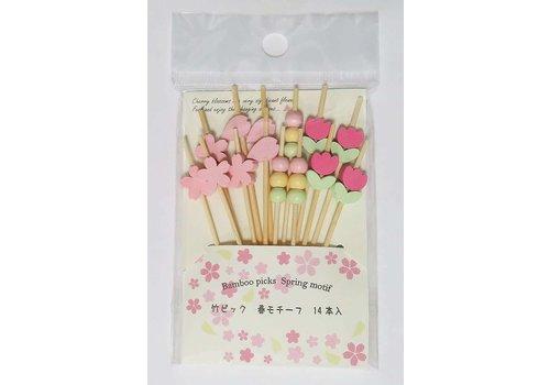 ?Bamboo pick spring motif 14P
