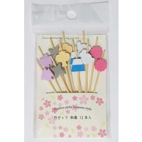 Bamboo pick Japanese style 12P