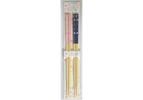 Printed bamboo chopsticks sakura A2P