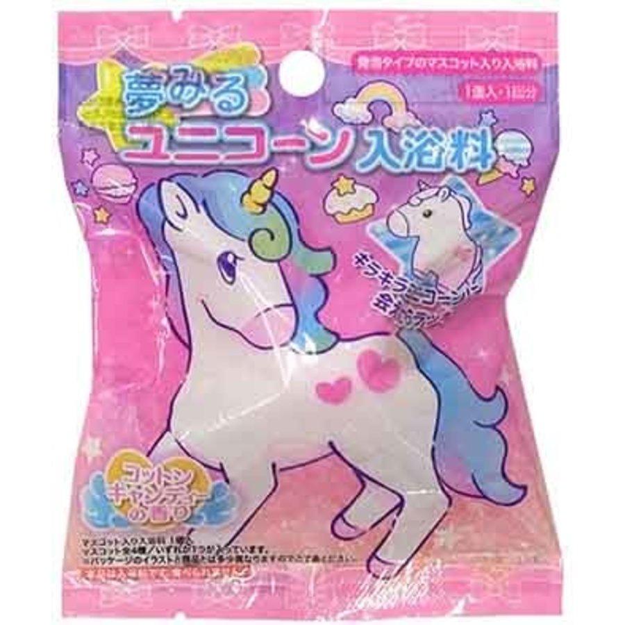 Bathing with mascot: dreaming unicorn-1