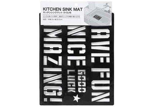 Kitchen sink mat tile pattern