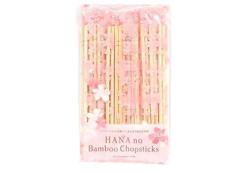 Hana no round bamboo chopsticks OPP 20P