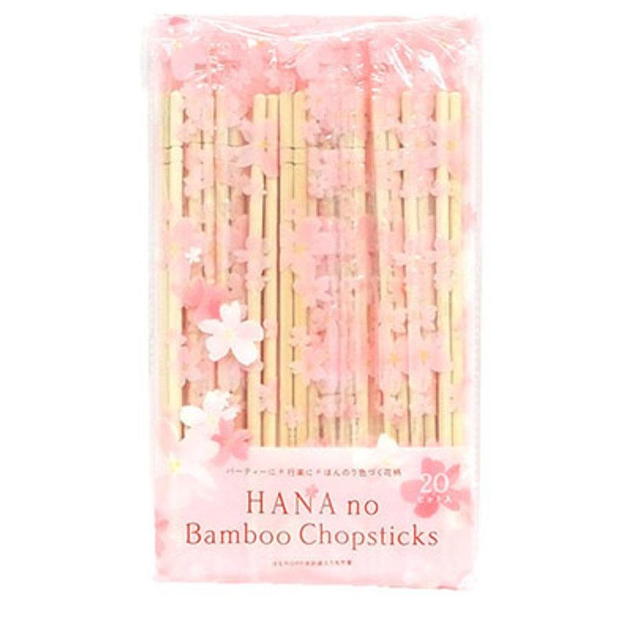 Hana no round bamboo chopsticks OPP 20P-1
