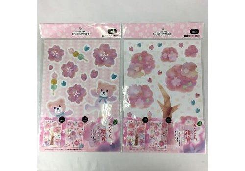 20 Wall sticker (sakura bear) S0