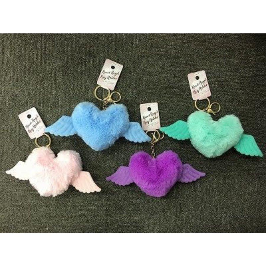 Fluffy heart angel KH-1