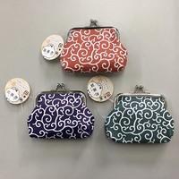 Japanese modern purse (foliage scrolls)