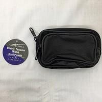 2 zipper waist mini pouch