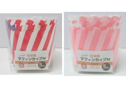 ?Muffin cup M pink 5P
