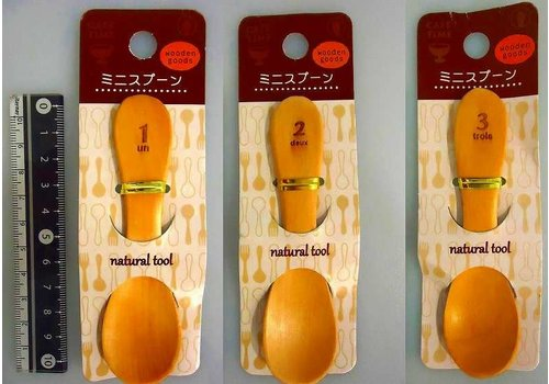Wooden mini spoon number