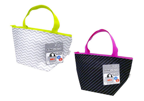 Monochrome neon cold/heat insulation lunch bag