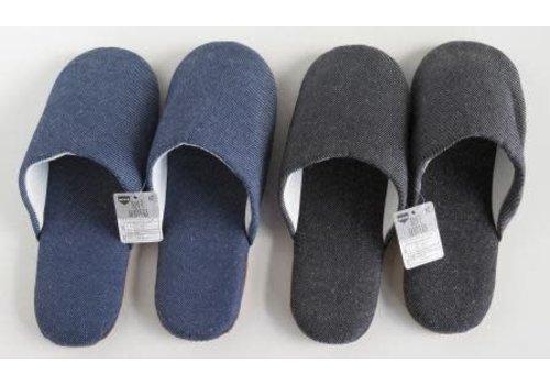 Soft slippers denim style