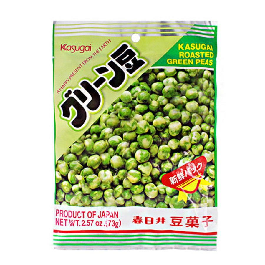 KASUGAI GREEN MAME - Geroosterde groene erwten snack 73 gr-1