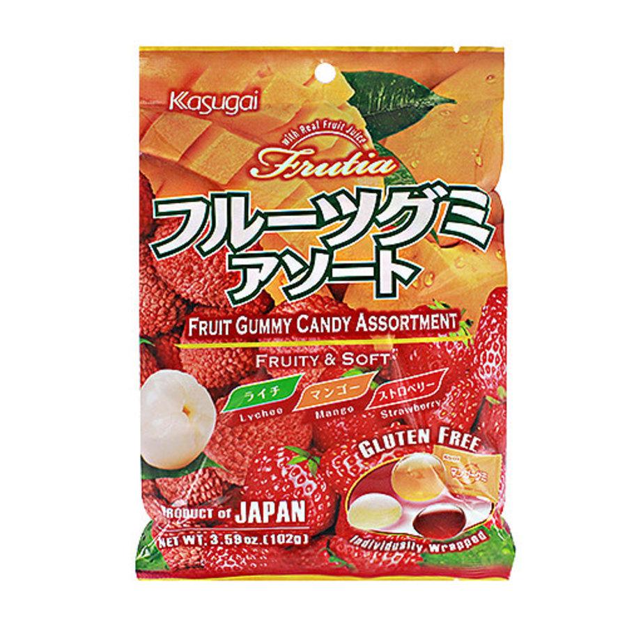 KASUGAI FRUIT GUMMY ASSORT - Gummie snoepjes met fruitsmaak 102 gr-1