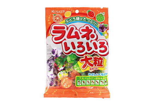 KASUGAI RAMUNE IROIRO - Japanse snoepjes met frisdranksmaak 67 gr