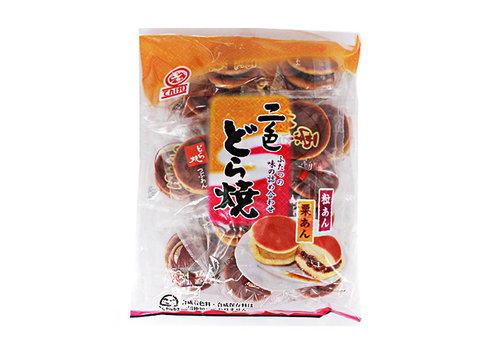 NISHOKU DORAYAKI - Zoetje cakejes met walnoot en rode boon vulling 265 gr