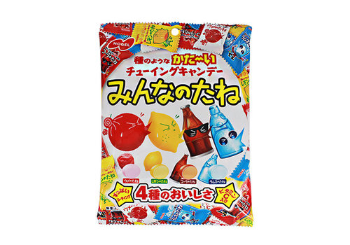 MINNA NO TANE - Japanse snoepjes met pruim, citroen, cola en frisdrank smaak 88 gr