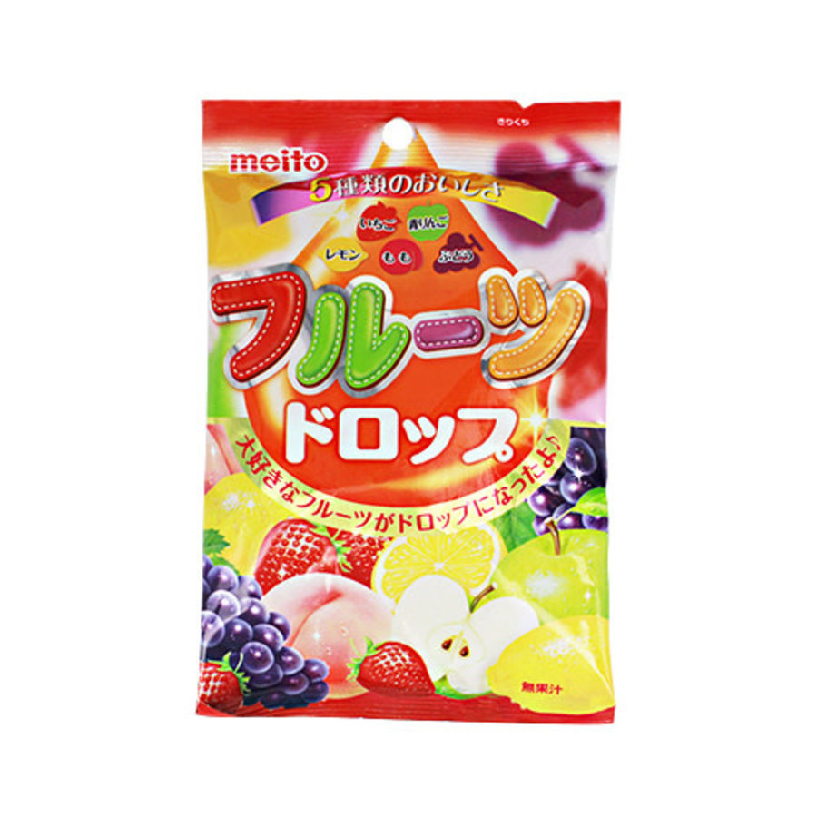 FRUIT DROPS - Japanse harde fruitsnoepjes 95 gr-1