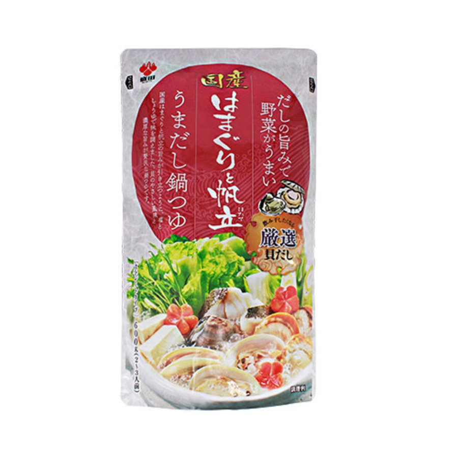 HAMAGURI TO HOTATE NO UMADASHI NABETSUYU - Japanse hot pot basis met hamaguri schelpdier en sint-jacobsschelp-1