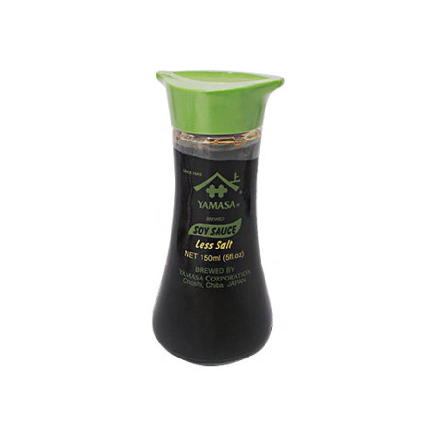 YAMASA Sojasaus minder zout glazen schenkfles 150 ml-1