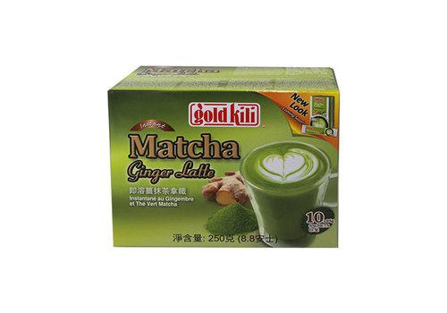 GOLD KILI Instant matcha ginger latte 10 x 25 gr