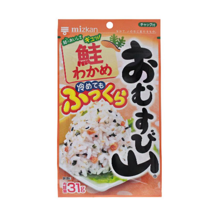OMUSUBIYAMA SAKE WAKAME - Furikake rijst strooikruiden met zalm en wakame zeewier 31 gr-1