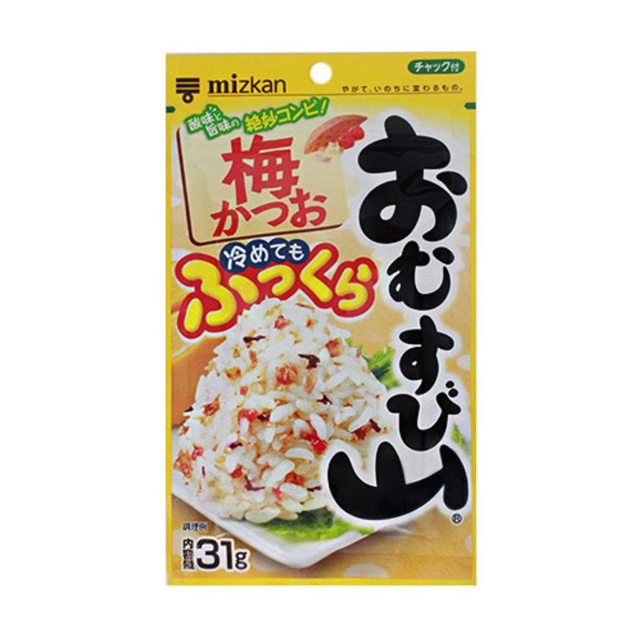 OMUSUBIYAMA UME KATSUO - Furikake rijst strooikruiden met pruim en bonito 31 gr-1