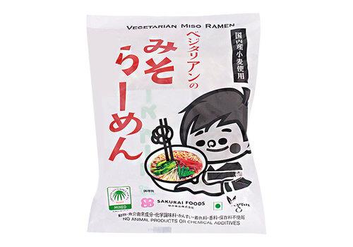 SAKURAI FOODS Vegetarische instant ramen noedels met miso smaak 100 gr