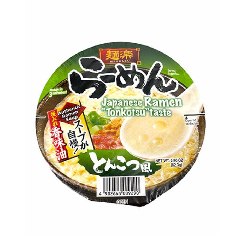 EX Menraku Cup Ramen Tonkotsu-Fu (Tonkotsu Style Ramen Cup Noodles)-1