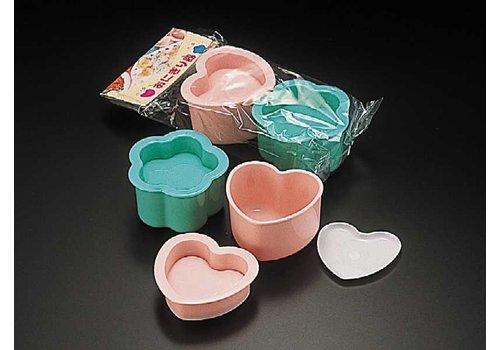 Food cutter for rice ball, heart/flower