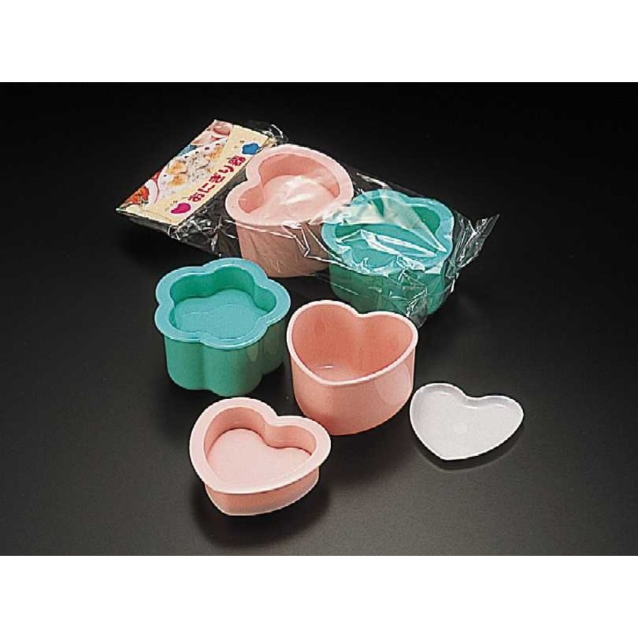 Food cutter for rice ball, heart/flower-1