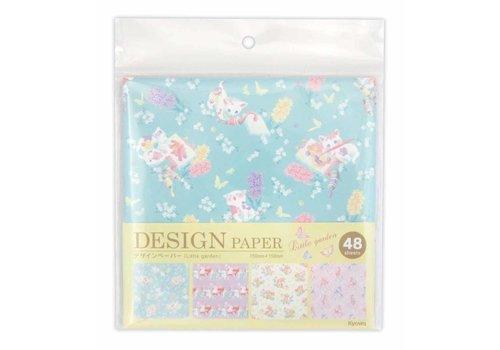 Design paper little garden 48sheets