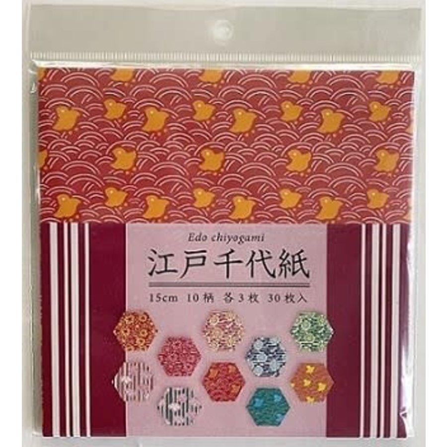 Origami Japanese chiyo 15cm 30sheets-1