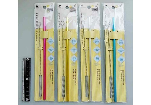 Aluminum straw (with brush)