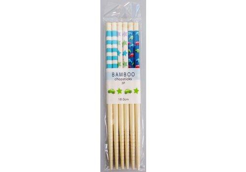 Bamboo chopsticks boys 3P