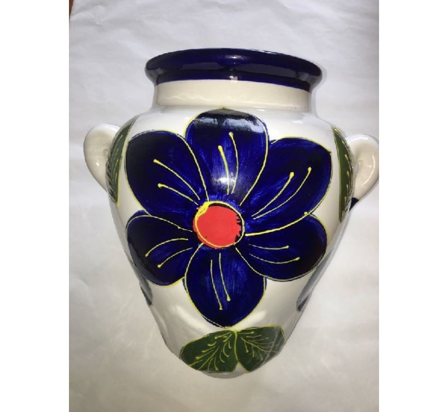 Hanging Flower Pot Azul Blanco
