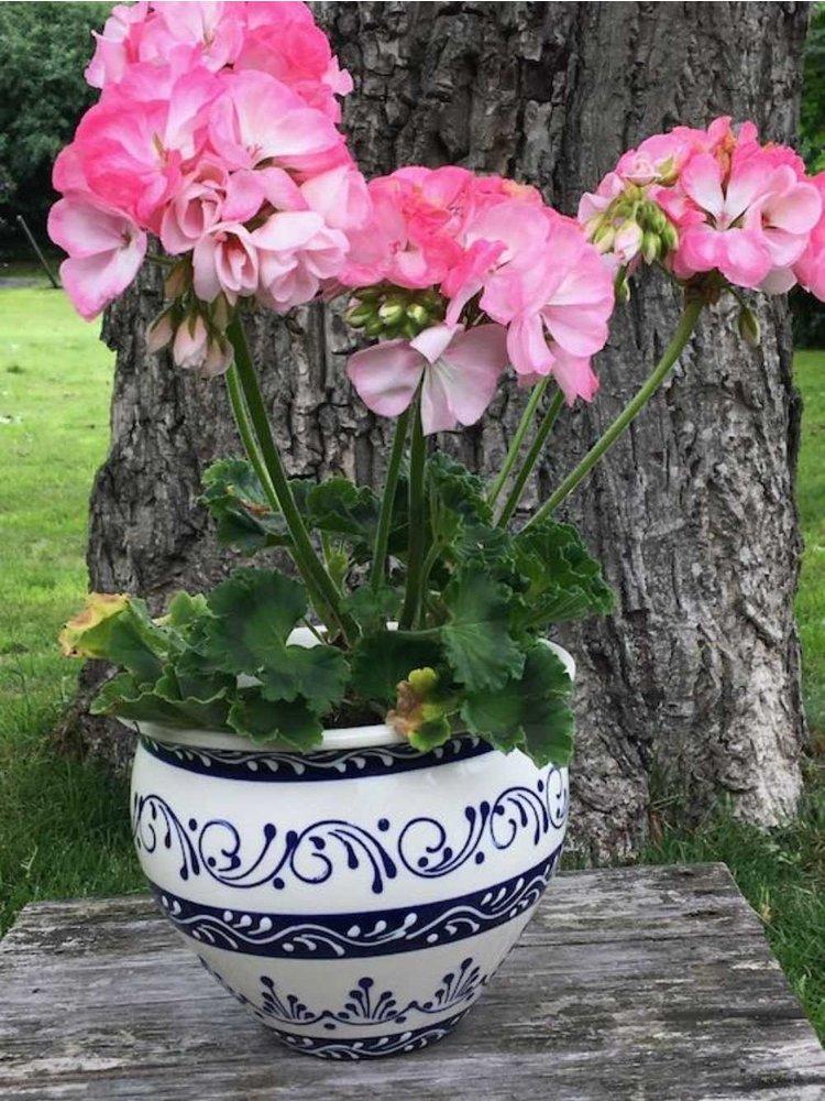 Spanish Flower Pot Cenefa Azul