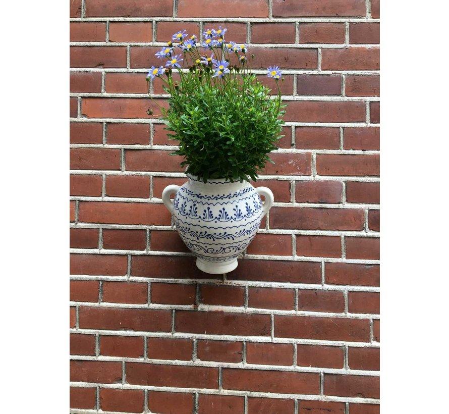 Hanging Flower Pot Azul Blanco Neo