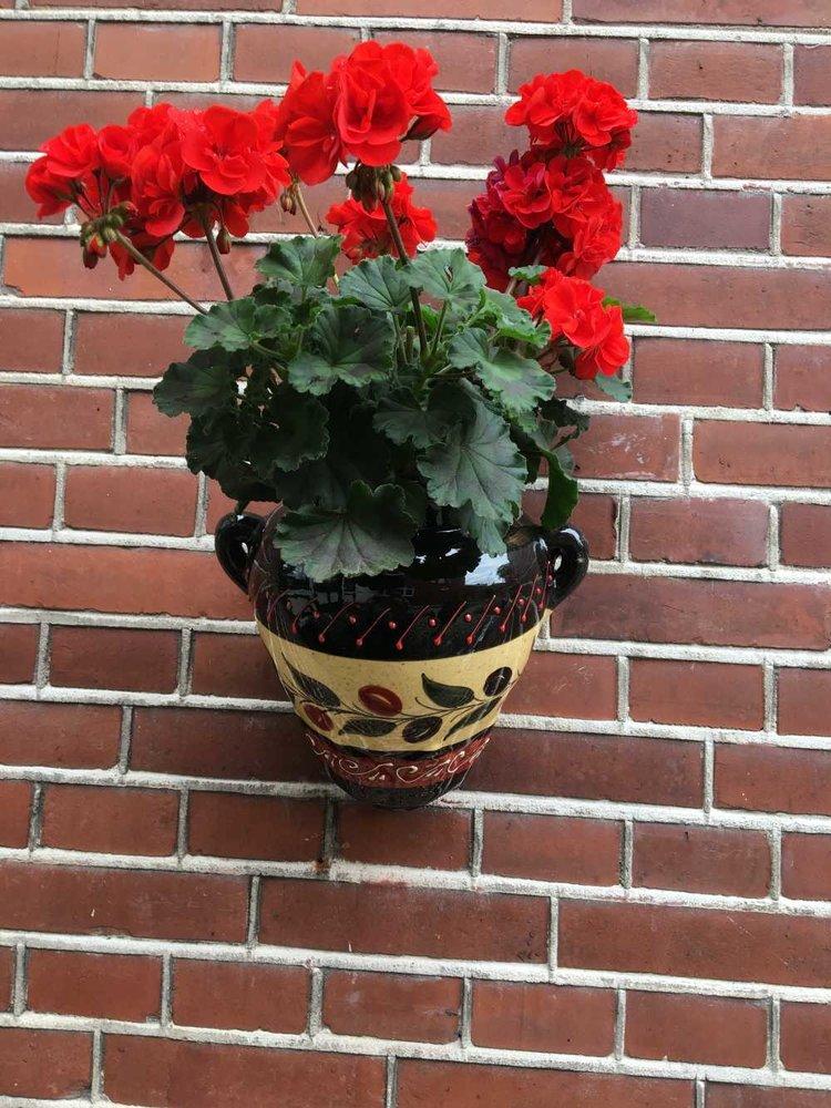 Hanging Flower Pot Aceituna Negra
