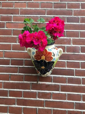 Hanging Flower Pot Azul Crema