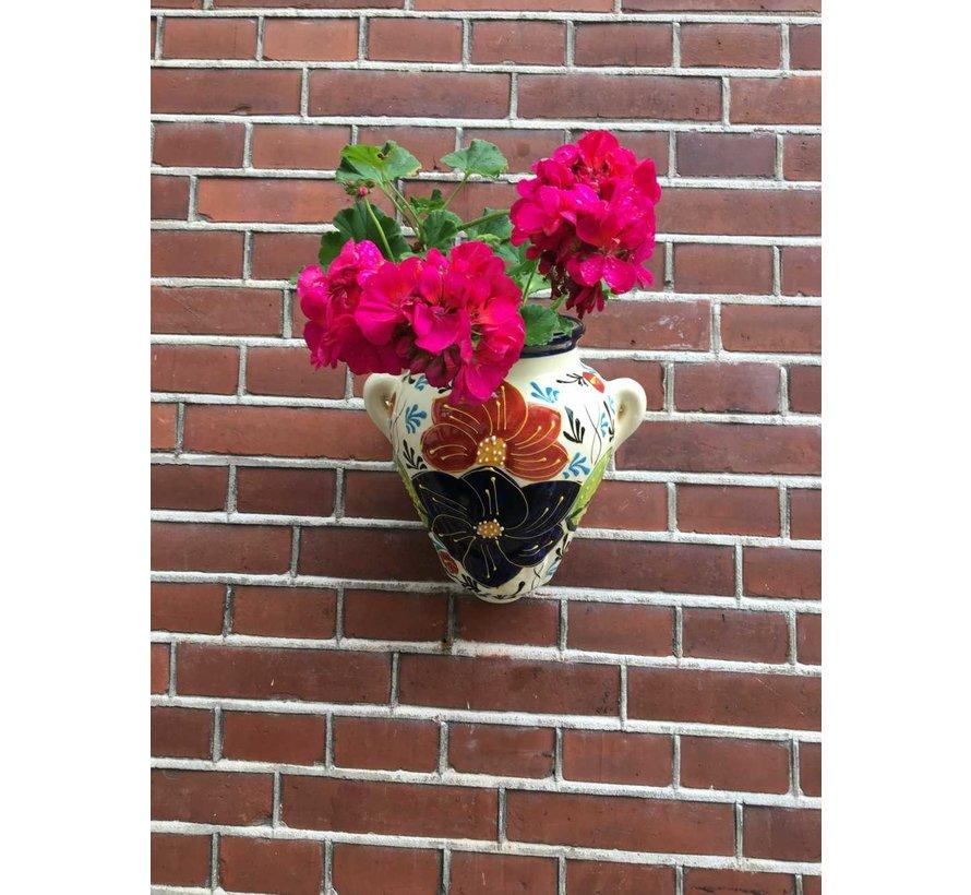 Hanging Flower Pot Azul Crema