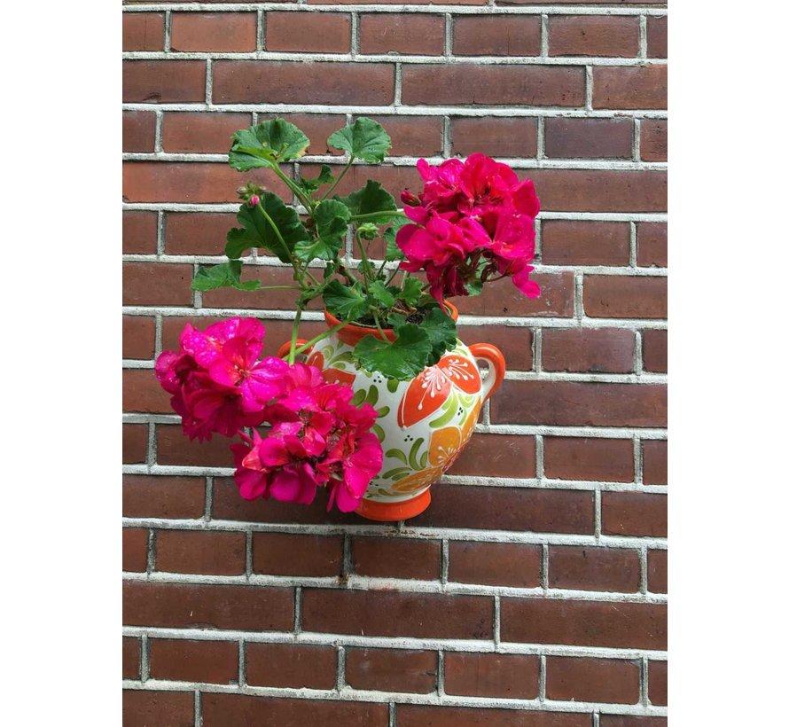 Hanging Flower Pot Flor Naranje