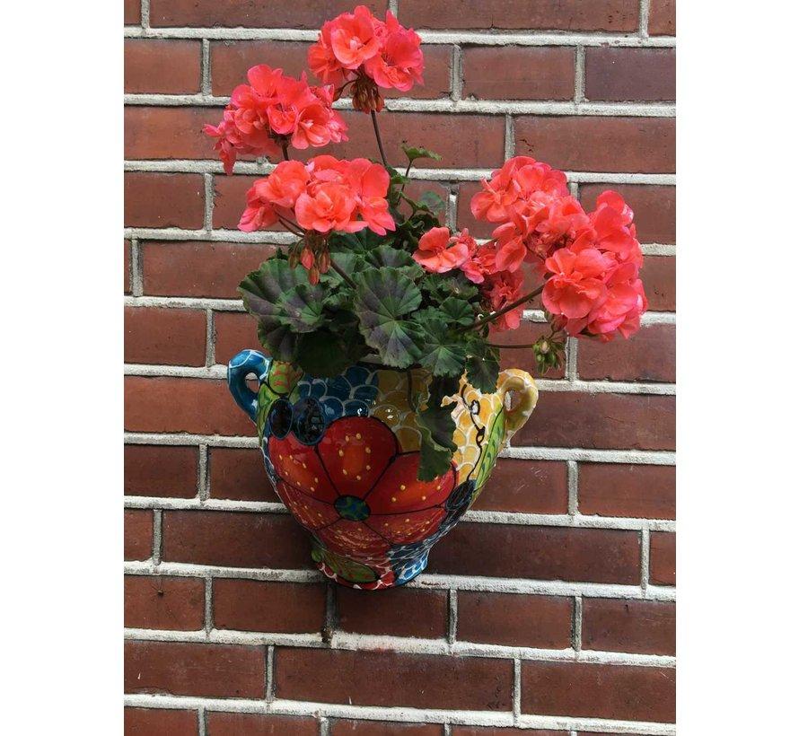 Hanging Flower Pot Craquele