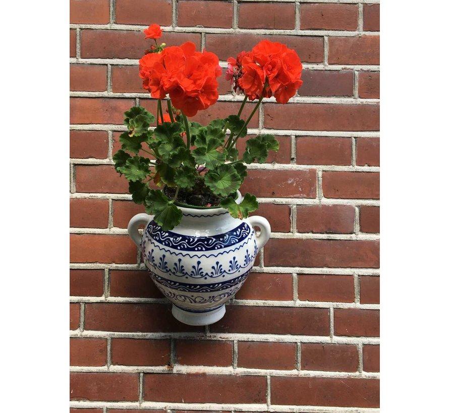 Hanging Flower Pot Cenefa Azul
