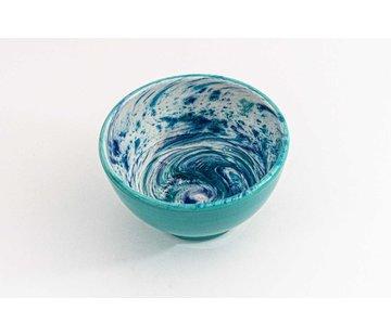 Kom Keramiek Aguas Turquoise ∅ 14 cm